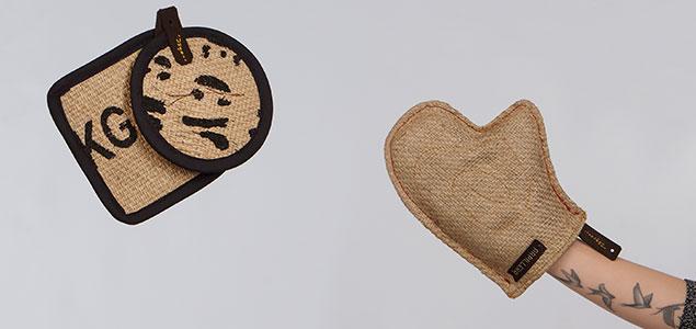 Accesorios de tela de saco para el hogar