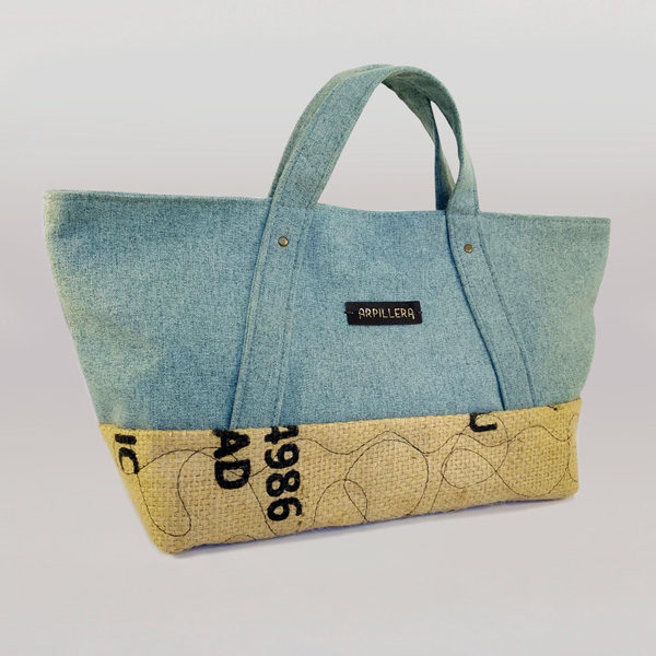 Bolso Slowly Greenish Blue de Arpillera