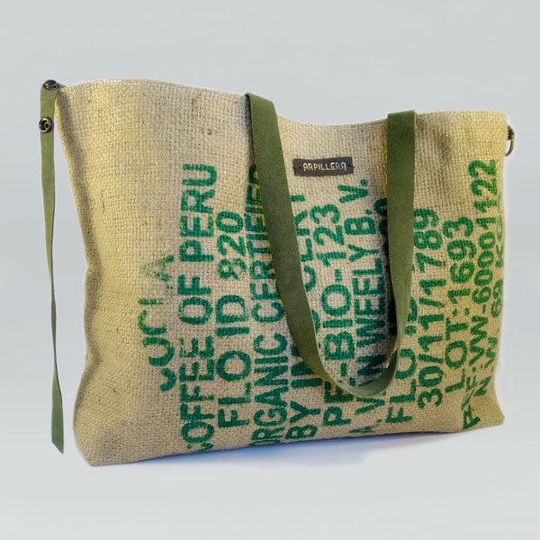 Bolso de tela arpillera Arábica Green