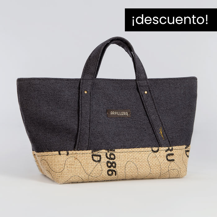 Bolso de tela Dark Blue Slowly exclusivo