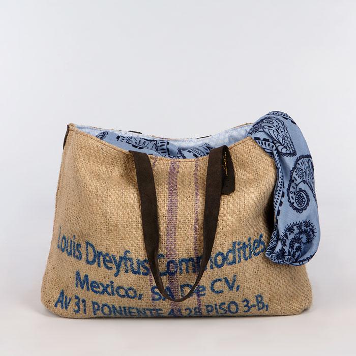 Bolso de tela de saco modelo Arábica Perú