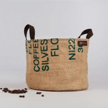 Capazo de tela de saco modelo Lia