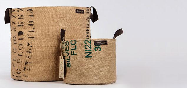 Capazos y sacos de tela de arpillera