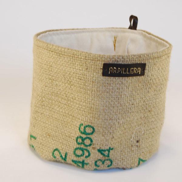 af9abb953 Cesta de tela de saco Timor Green - Arpillera