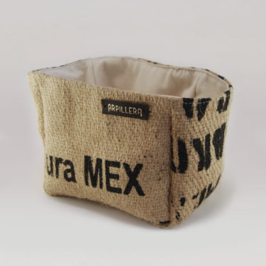 Cesta de tela de saco Mex