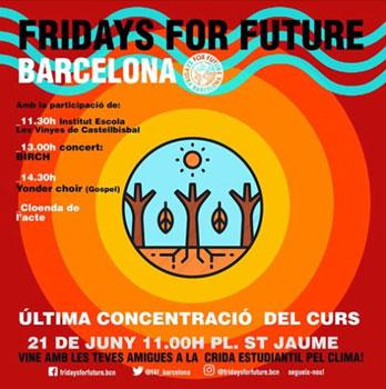 Concentración por el Clima en Barcelona