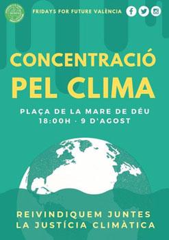 Concentración por el Clima en Valencia