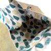 Interior tela 100% algodón del bolso Arábica Green