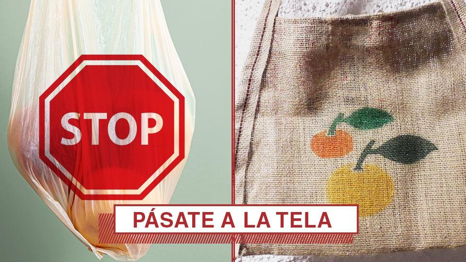 Pásate a las bolsas de tela y renuncia a las bolsas de plástico