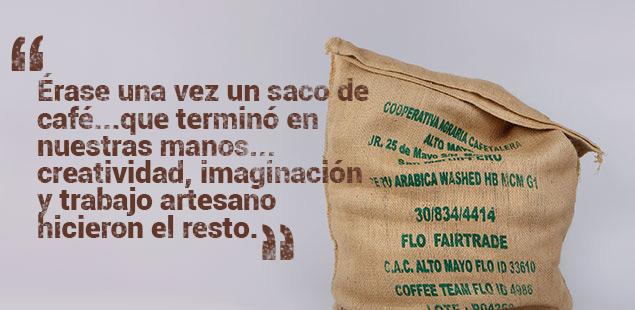 Saco de arpillera de café