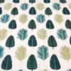 Tela de algodón para forro de bolso con hojas verdes